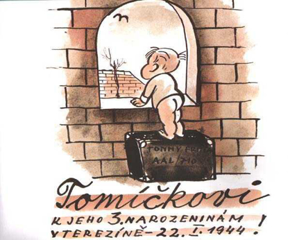 Picture of Tommy: To Tommy, for his Third Birthday in Theresienstadt, 22 January 1944