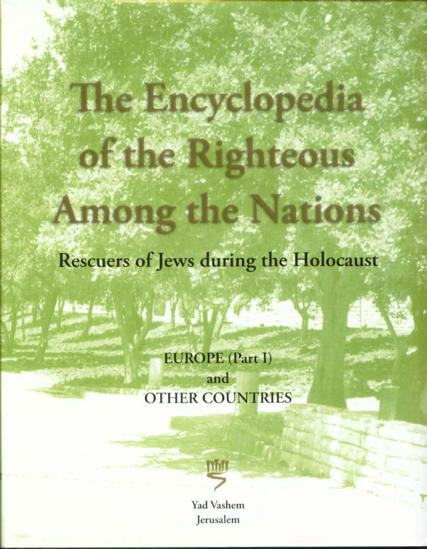 Picture of The Encyclopedia of the Righteous among the Nations: Europe (Part II)
