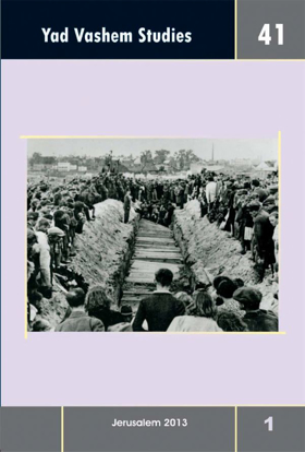 Picture of Yad Vashem Studies: Volume 41 [1]