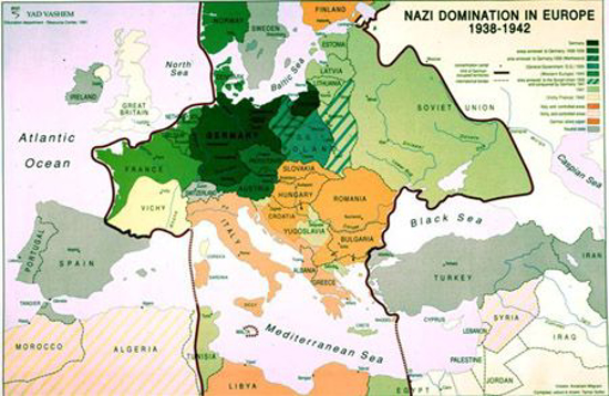 תמונה של Nazi domination in Europe Map