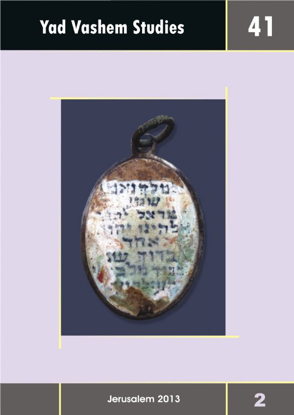 Picture of Yad Vashem Studies: Volume 41 [2]
