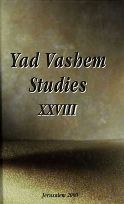 Picture of Antisemitism in Tourist Facilities in Yad Vashem Studies, Volume XXVIII