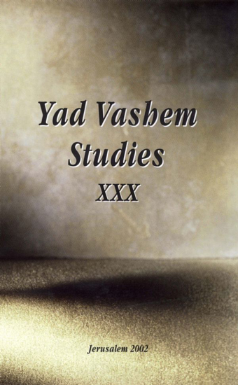 Picture of Why Did So Many-Jews in Antwerp Perish? in Yad Vashem Studies, Volume XXX