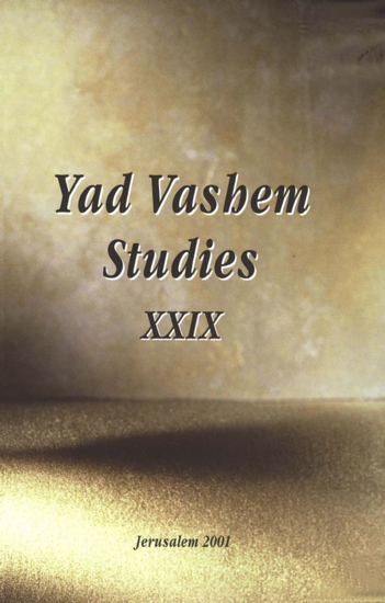 תמונה של Weeping Without Tears in Yad Vashem Studies, Volume XXIX
