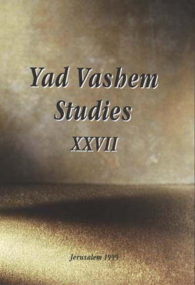 תמונה של About Jacob Katz in Yad Vashem Studies, Volume XXVII